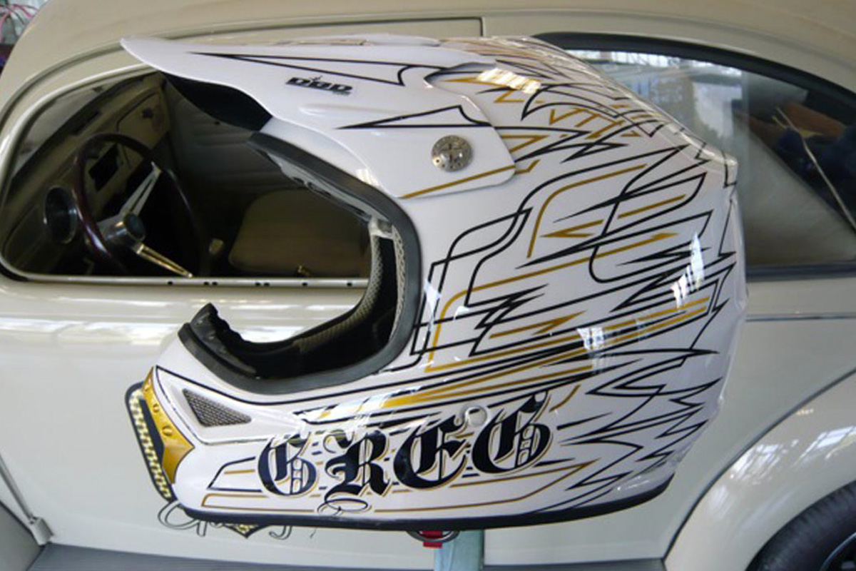 "Casque cross ""Pin Stripe"" Greg"