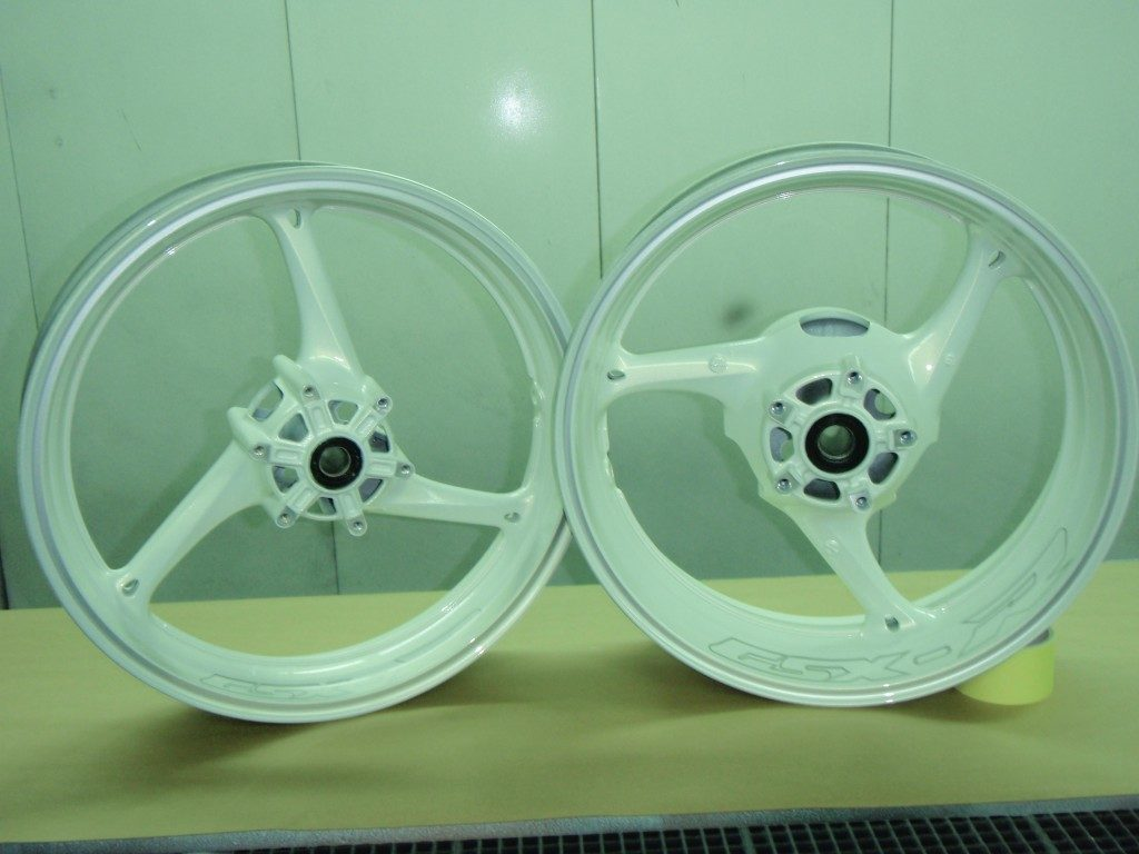 Jantes GSX-R blanches