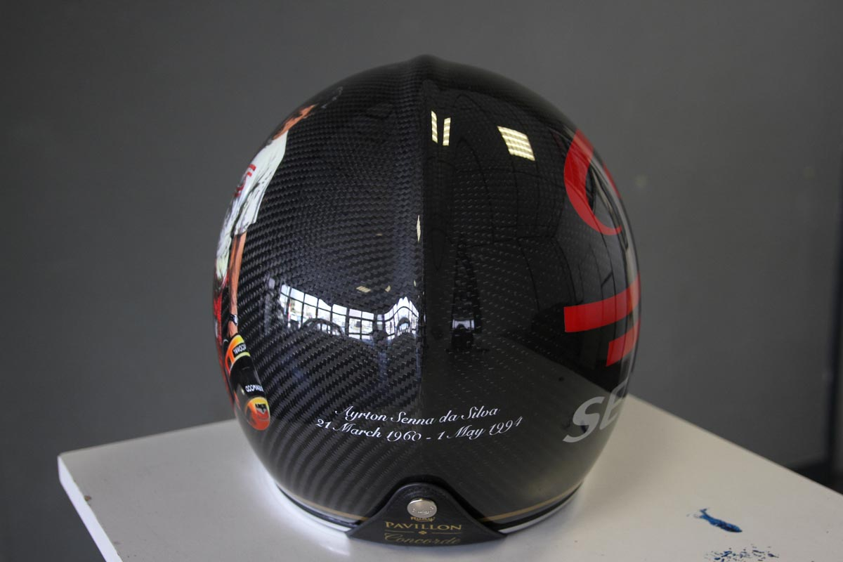 Casque Ruby Ayrton Senna