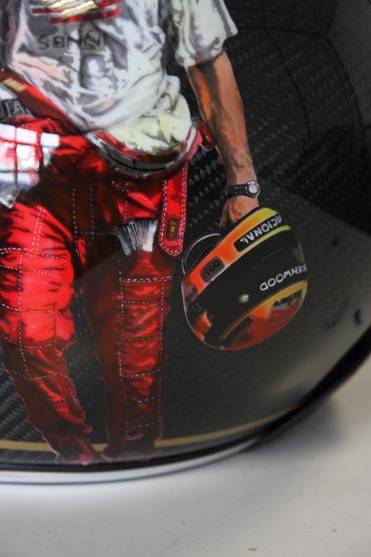 Casque Ruby Ayrton Senna